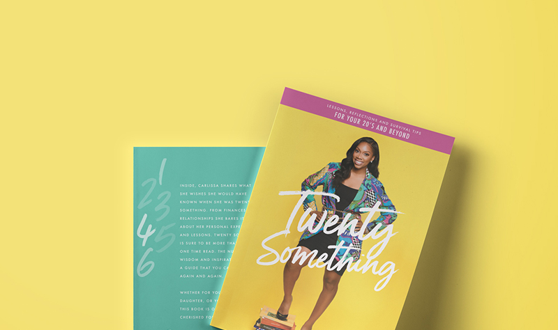 Twenty Something Book Cover design for Carlissa Shaw designed by Hire Henri Creative