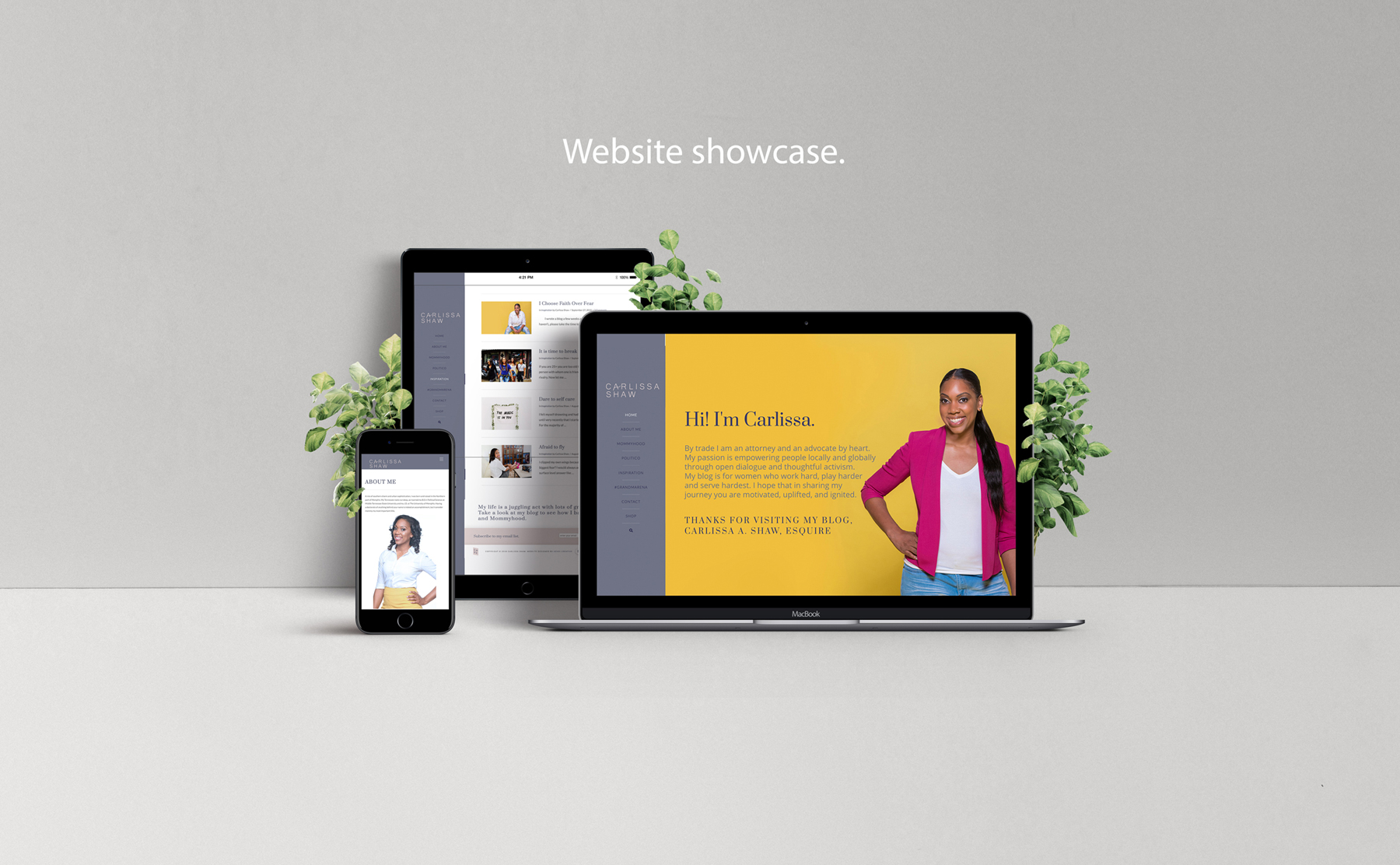 Blog Website for Carlissa Shaw designed by Hire Henri Creative