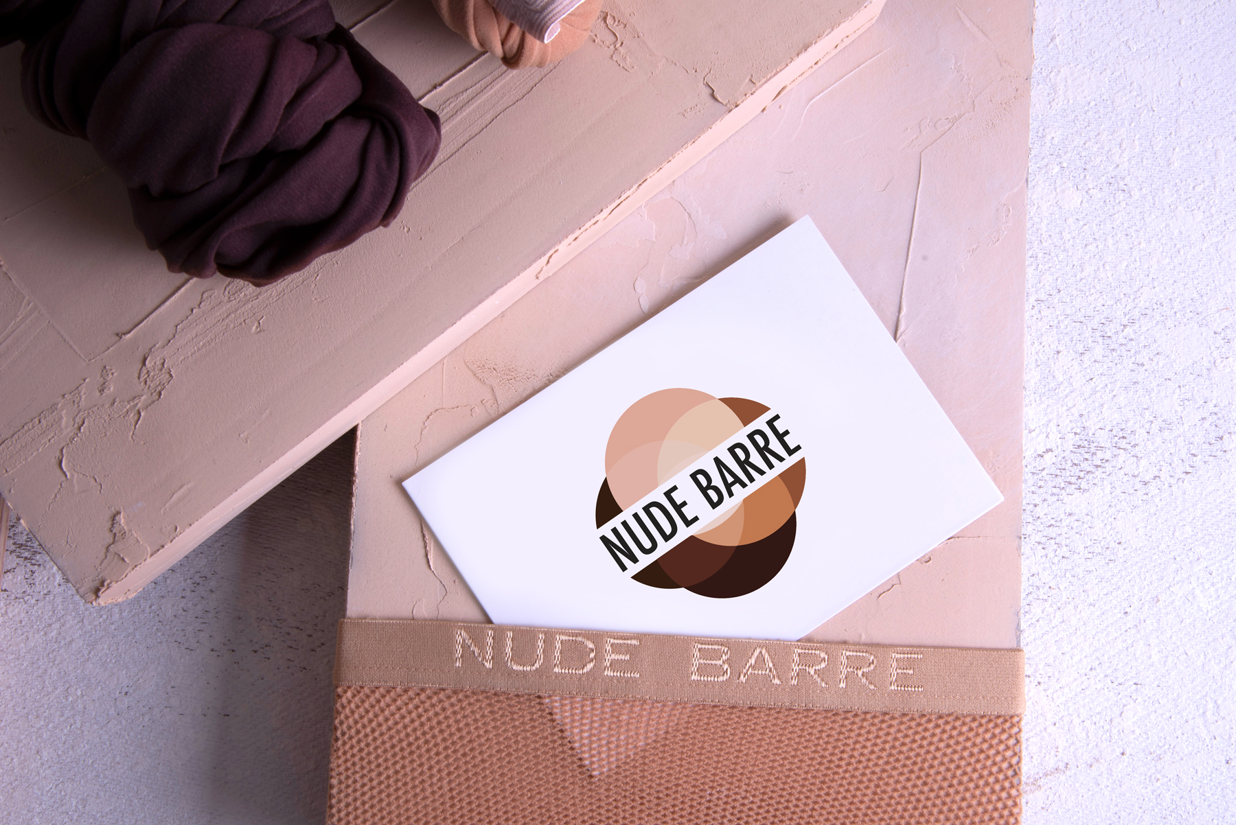 Nude Barre Brochure designed and photographed by Hire Henri Creative