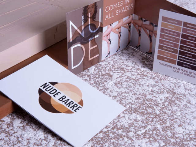 Nude Barre Brochure designed by Hire Henri Creative